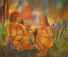 Nudes in the Garden