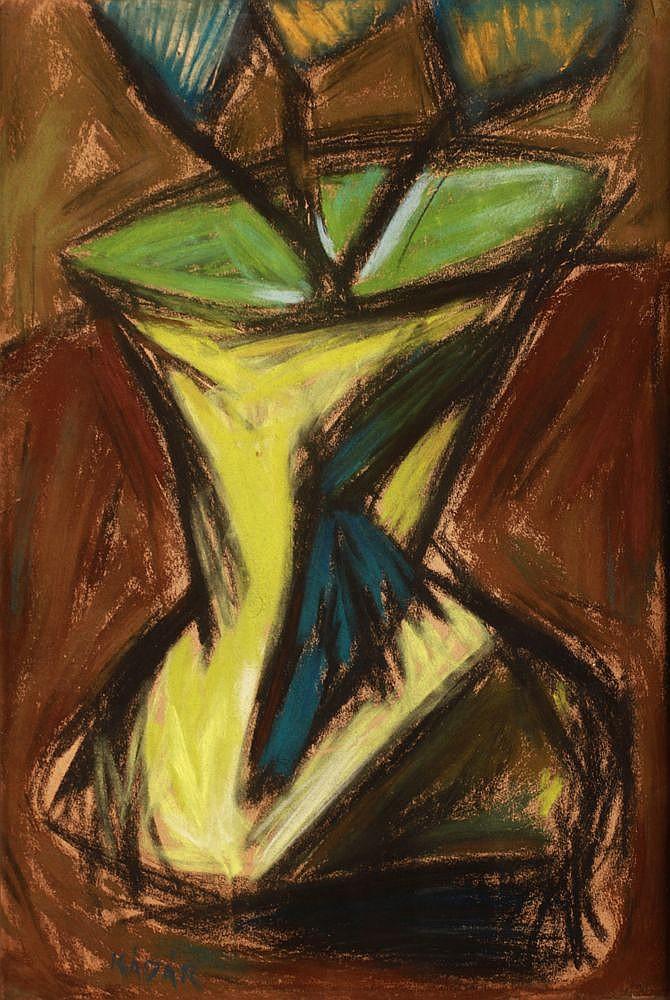György Kádár (1912-2002): Plant in a Vase