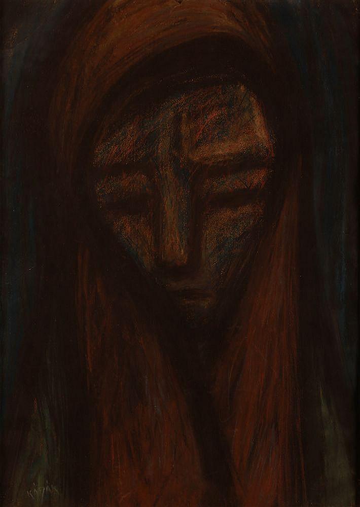 György Kádár (1912-2002): Women with a Scarf