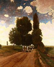 Gyula Aggházy (1850-1919): Way to Home