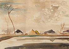 György Litkey (1907-1975): View of Kapuvár