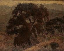 Miklós Bottka (1876-1941): Landscape with Tree