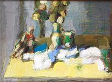 József Bolgár (1928-1986): Still-life on Table