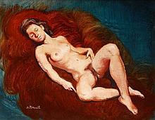 Kálmán Istókovits (1898-1990) Lying Nude