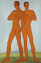 János Mattis Teutsch (1884-1960) Standing men
