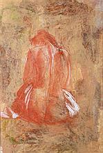 Lajos Csáky (1950) Sitting Nude