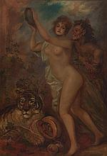 Wiele signed as / with Wiele sign Faun and Nymph