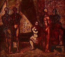 Jeno Barcsay (1900-1988) Nudes in the Studio