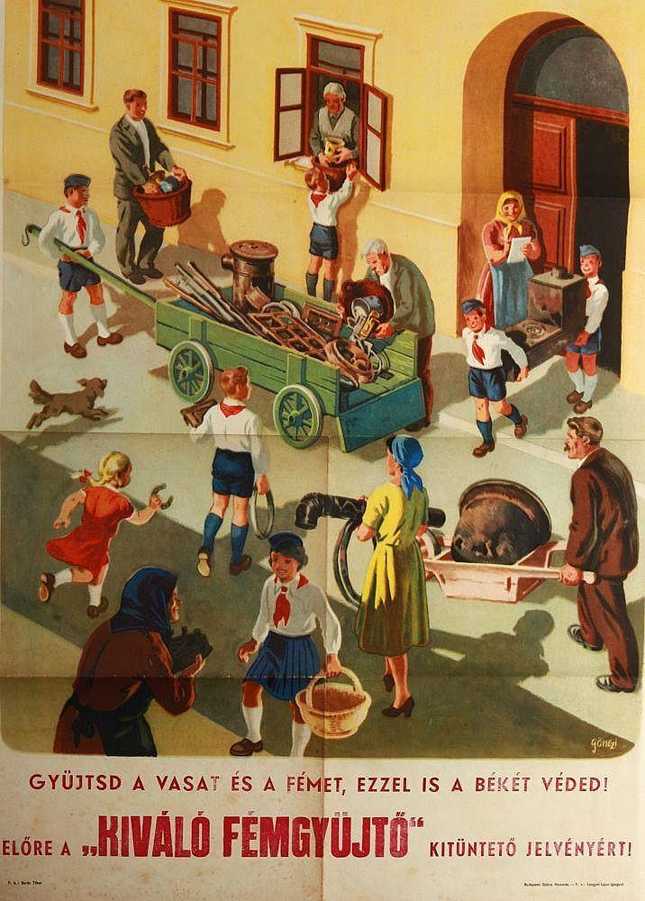 Tibor Gönczi-Gebhardt (1902-1994) Collect the iron and metal...