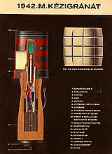 1942 M. hand grenade - military demonstration board
