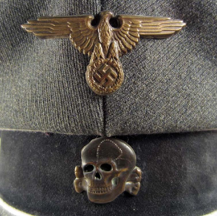 RARE GERMAN NAZI WAFFEN SS INFANTRY OFFICERS VISOR CAP