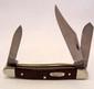 CASE MEDIUM STOCKMAN POCKET KNIFE W/ JIGGED BROWN DELRIN HANDLE