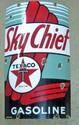 TEXACO SKY CHIEF GASOLINE PORCELAIN GAS PUMP ADVERTISING SIGN