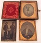 LOT OF 3 EARLY PHOTOS - TINTYPE & AMBROTYPE