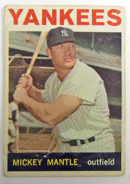 1964 TOPPS MICKEY MANTLE #50 BASEBALL CARD