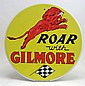 ROAR WITH GILMORE ROUND TIN SIGN - 12