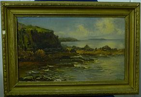 Circle of John Brett (1831 - 1902) Coastal scene