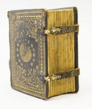A MINIATURE BOOK OF HOURS ON VELLUM IN LATIN AND DUTCH, WITH CHARMING HISTORIATED INITIALS. USE OF ROME.