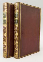 (ENGRAVED BOOKS).  (BINDINGS - 18TH CENTURY).  HORACE.  PINE, JOHN, Engraver. OPERA.