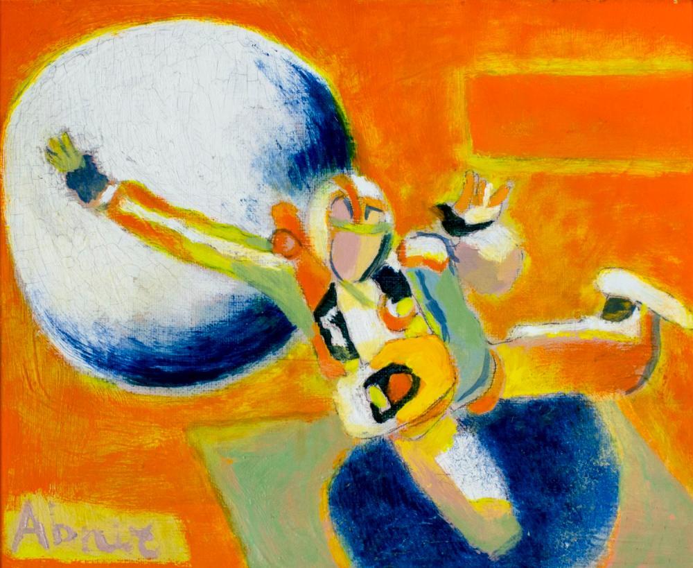Raymond Abner (Egypt,France,1919-1999) oil painting