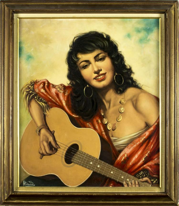 Andras David (hungarian, born 1883) oil on canvas