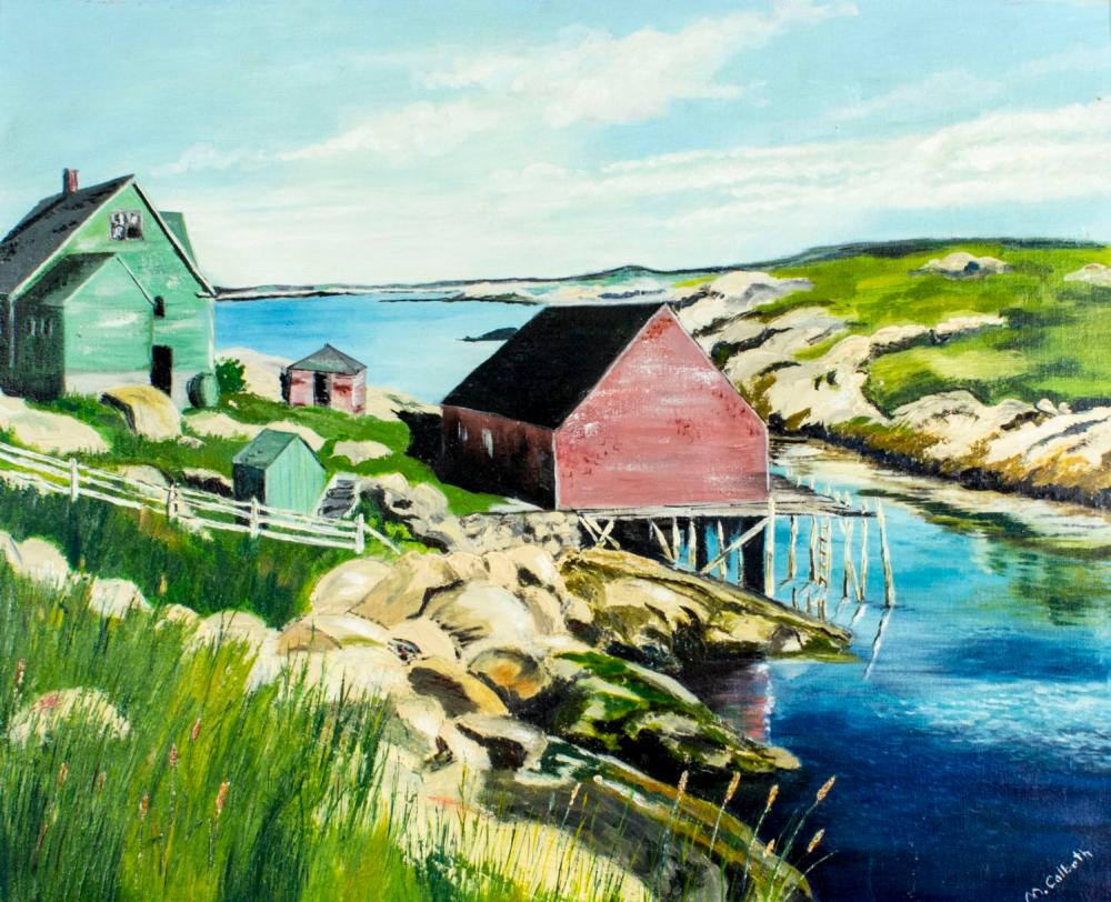 Mildred Colbath (Canada, mid 20C) oil painting