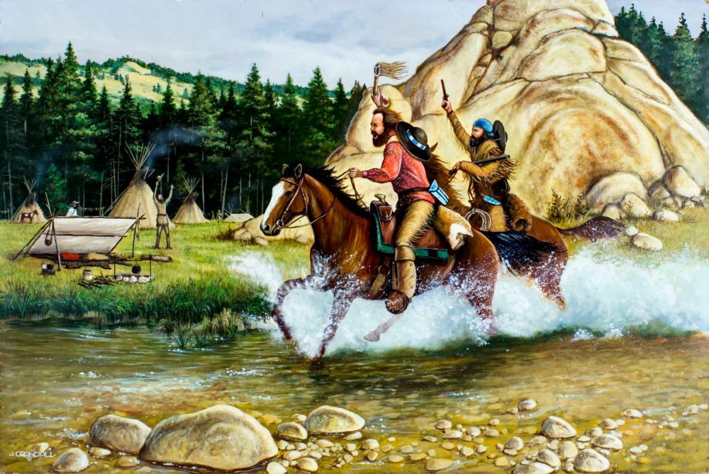 Jerry Crandall (AZ,CO,b 1935) oil painting