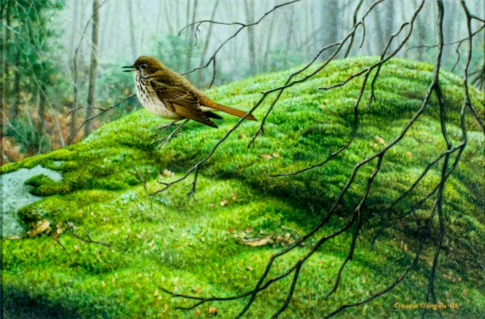 Claudio D'Angelo (Canada,b 1956) acrylic painting