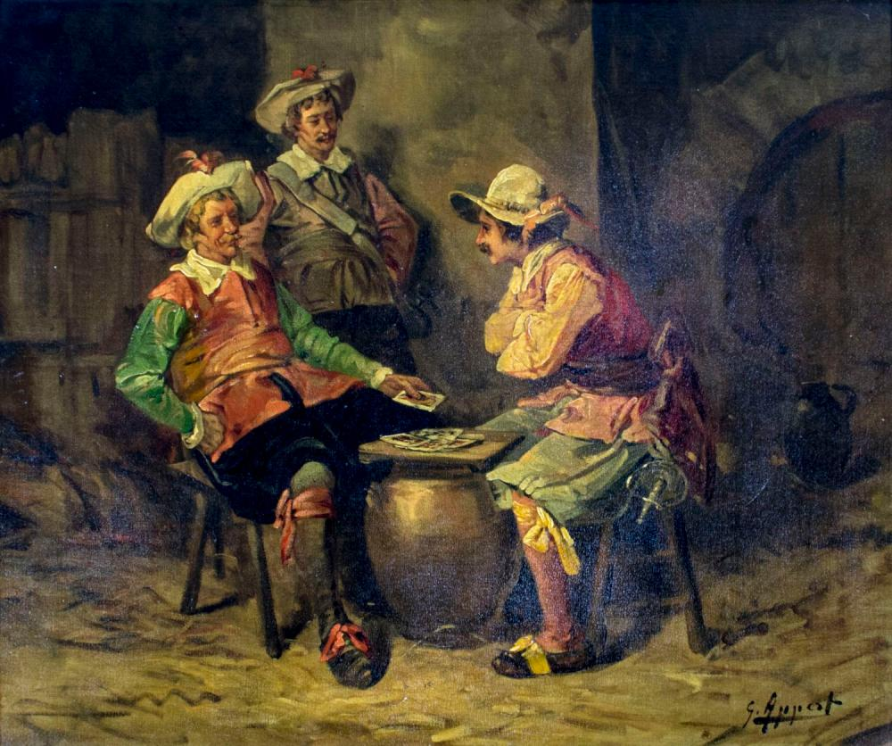 George Appert (French,1850-1934) oil painting antique