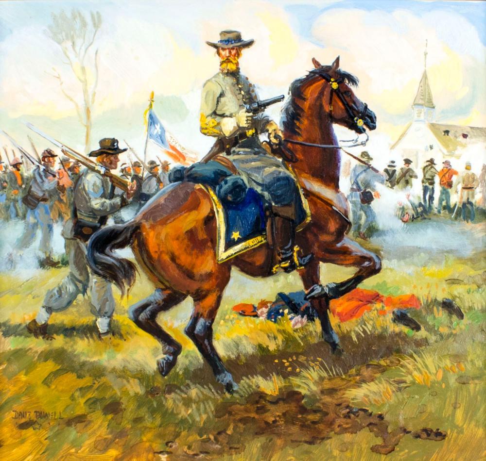 David Powell (MT,b 1954) oil painting