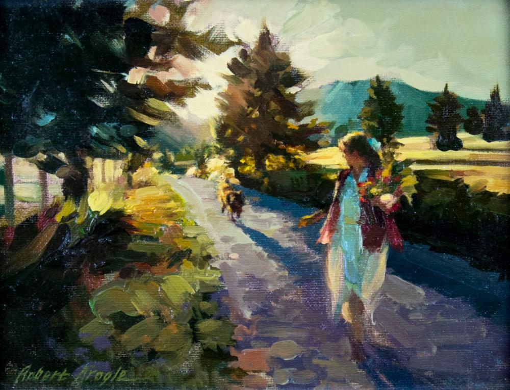 Robert Krogle (ID,20/21C) oil painting