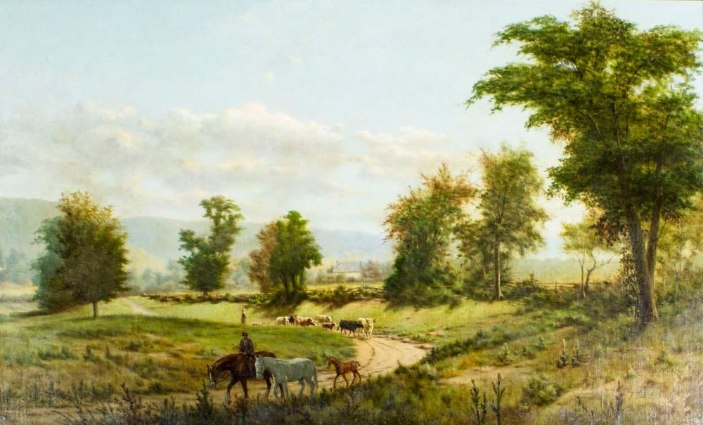 Frederick DeBourg Richards (NY,DE,1822-1903) oil painting antique