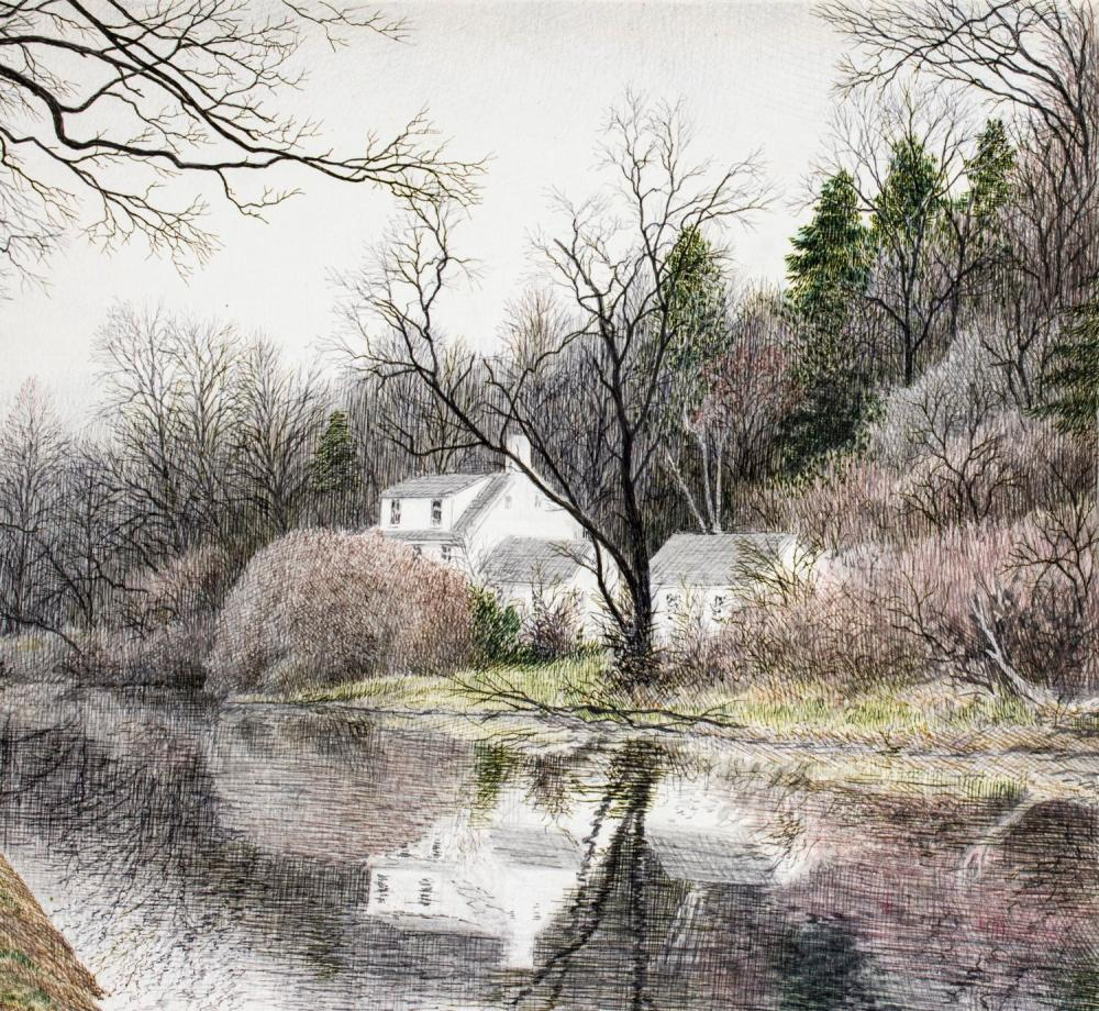 Peter Keating (MD,KY,1949-2007) watercolor painting
