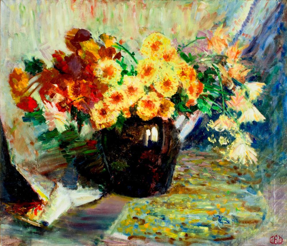 Vintage mid 20C American oil painting