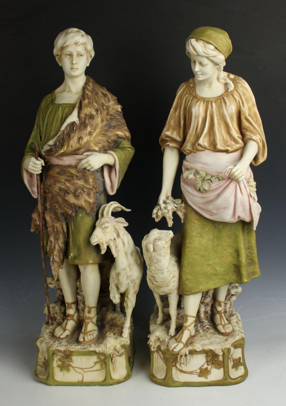 "Royal Dux figurines ""Shepherds"""