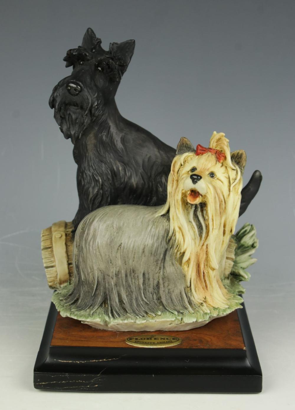 """Giuseppe Armani Figurine 456S dogs """"Odd Couple"""""""