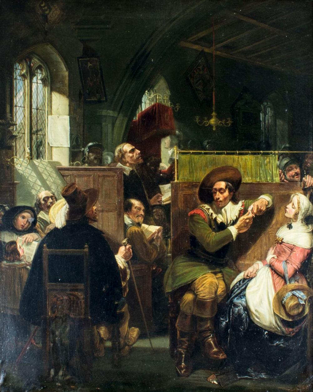 Alexis van Hamme (Belgium,1818-1875) oil painting antique