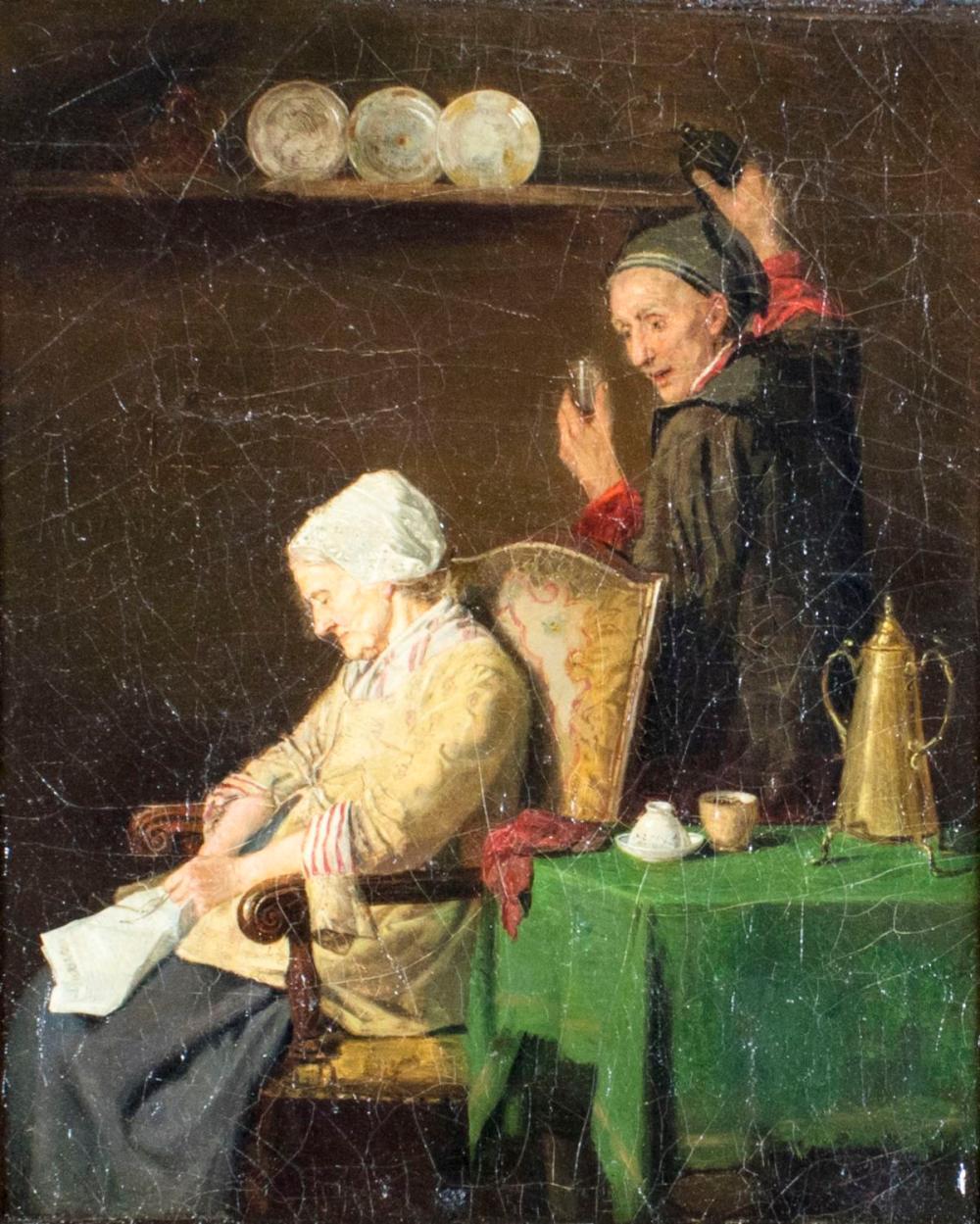 Karl Julius Lorck (Norway,1829-1882) oil painting antique