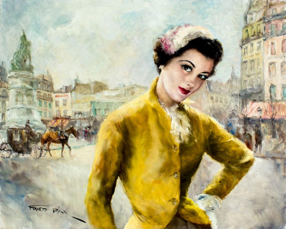 Pal Fried (NY,CA,Hungary,1893-1976) oil painting