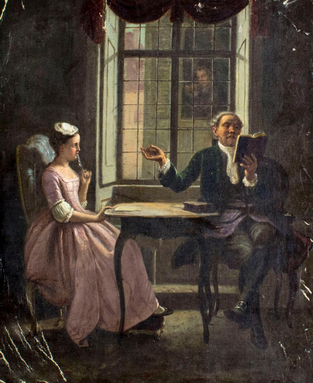 ATTR Evert Jan Boks (Dutch,1838-1914) oil painting antique