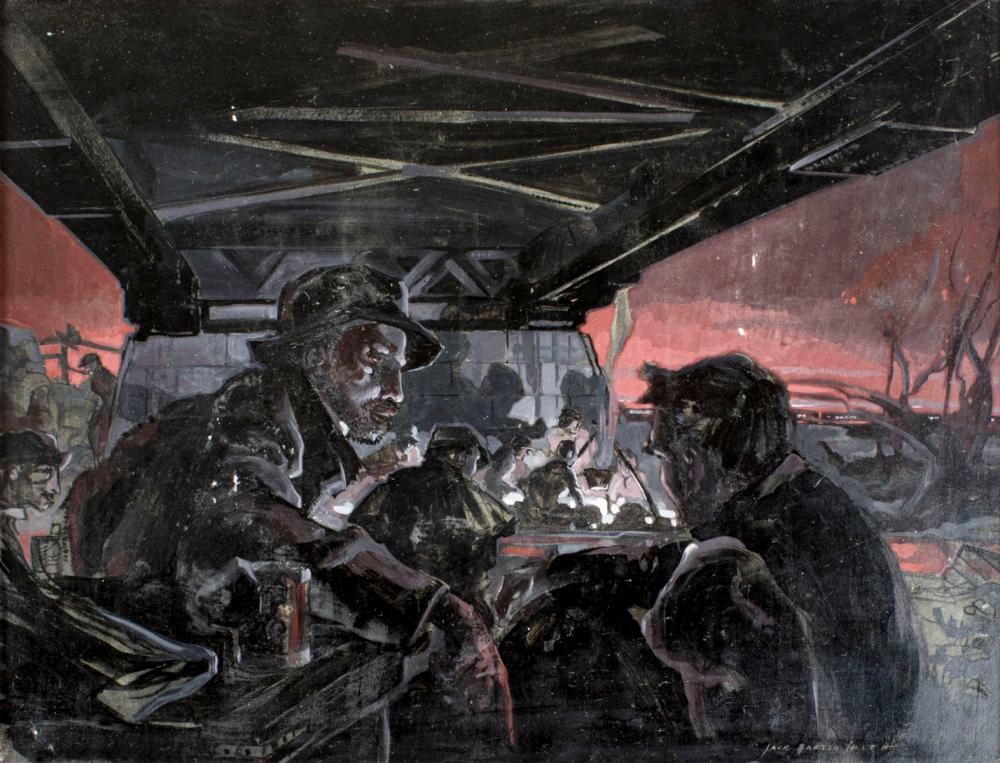 Jack Martin Smith (CA,1911-1993) acrylic painting