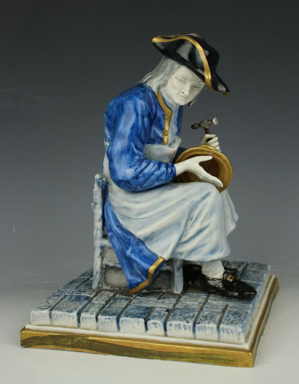 "Capodimonte Luigi Fabris Figurine 852 ""Coppersmith"""