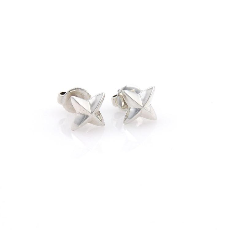 Tiffany & Co. Elsa Peretti Sterling Silver North Star Stud Earrings