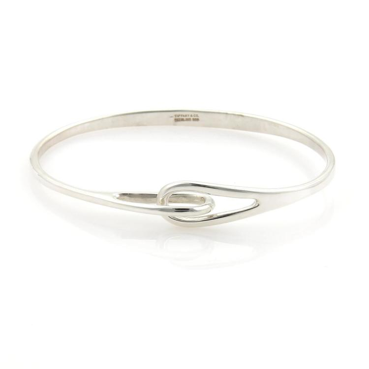 Tiffany & Co. Sterling Silver Double Interlocking Loop Bangle Bracelet