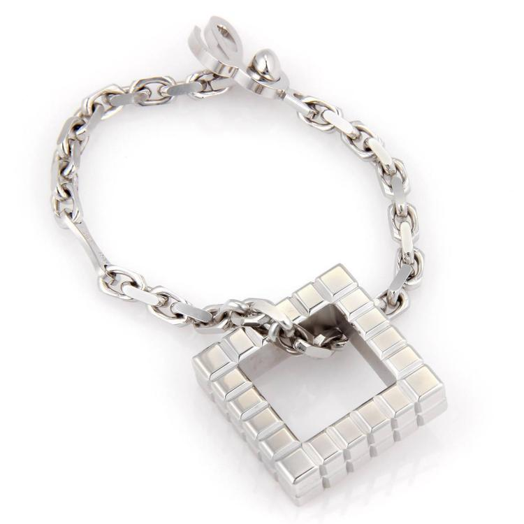 Chopard Sterling Silver Fancy Square Key Chain