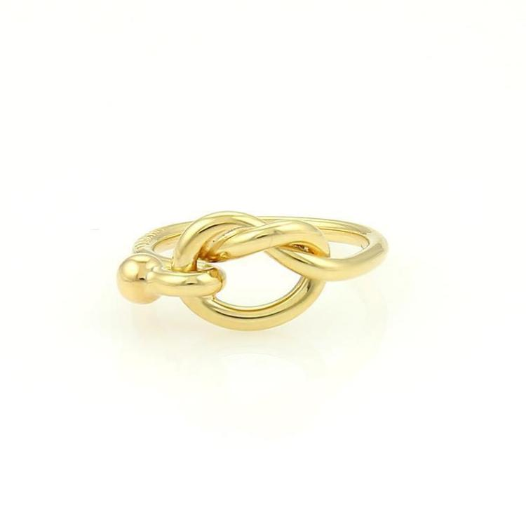 Tiffany & Co. 18k Yellow Gold Hook & Eye Ring