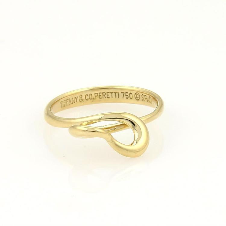 Tiffany & Co. Elsa Peretti 3D Twisted Open Heart Rings 5.75