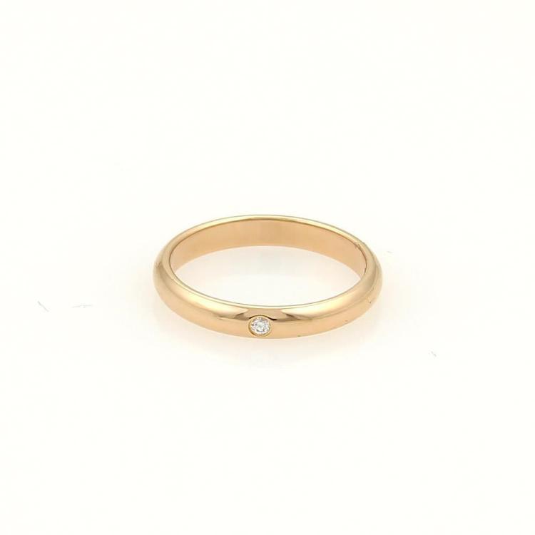 Cartier One Diamond 18k Rose Gold Wedding Band Ring Size EU 44-US 3