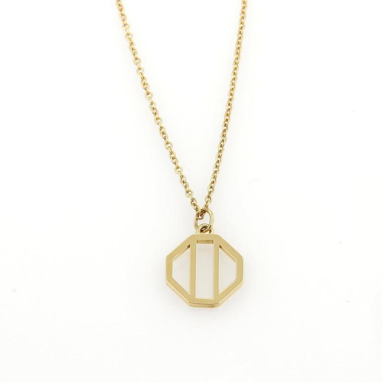 Tiffany & Co. Paloma Picasso 18k Yellow Gold Octagon Pendant Necklace