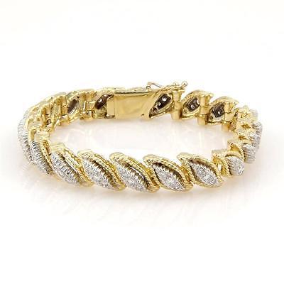 Estate 18K Yellow Gold 1.50ct Fancy Diamond Link Bracelet